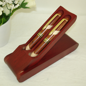Image 3 - עט עץ שולחן במשרד קישוט עץ חריטת כדור עט ערכות ידידותית לסביבה בעבודת יד עץ קרפט אריזת מתנה סטים עט החסר מתנה