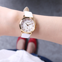 New Small Round Dial Woven Mesh Band Quartz Women Watch Famous Luxury Brand 2017 Simple Casual