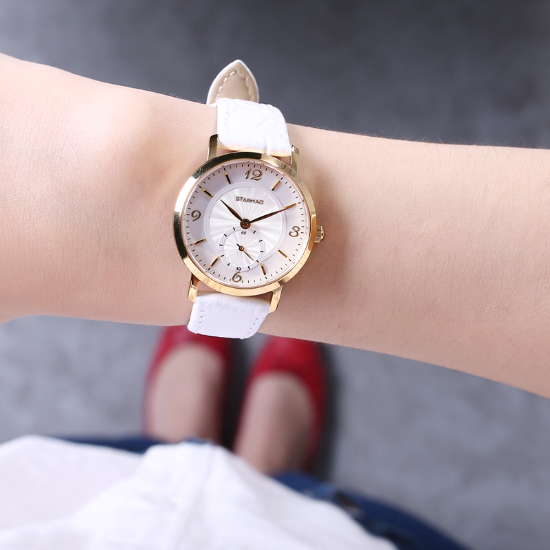 New Small Round Dial Leather Band Quartz Women Watch Famous Luxury Brand 2017 Simple Casual Dress Ladies Wrist Watches For Women