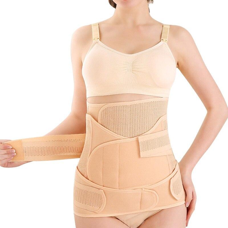 Post Partum Girdles For Women Belly Belt After Pregnancy: 3 Pieces/Set Women Postpartum Belly Waist Pelvis Pregnancy