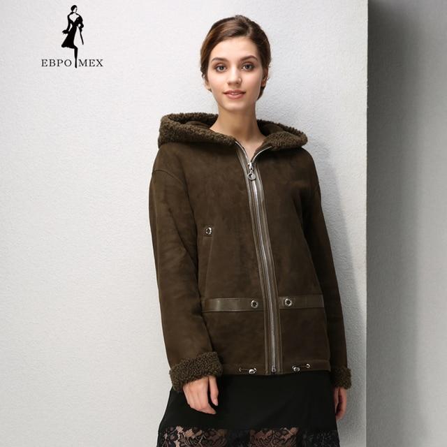 291ff83dea8 Simple women fur coat Fashion Slim Fur women winter Sheep Shearing Coat  sheepskin coats With hat