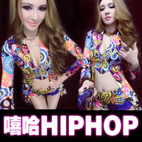 Hip hop bar ds performance costumes jazz dancing night female dj singer Colorful stage performance service