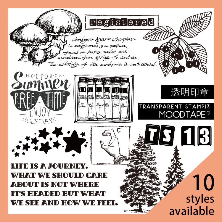 Moodtape Vintage Clear Stamp For DIY Scrapbooking/photo Album Decorative Transparent Stamp Label Flower Plant Rubber Stamp Seal