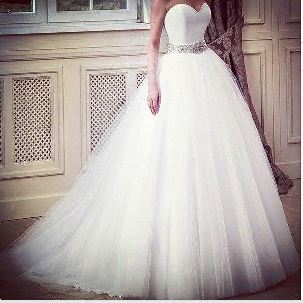 Custom Made Princess Sweetheart Wedding Dress Rhinestones Sparkle ...