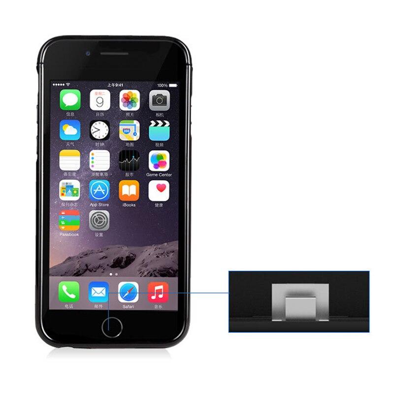 imágenes para NEWDERY Para iPhone 5 Caso Del Cargador de Batería Externa para el iphone Banco de la Energía de Batería de Reserva Del Caso Del Cargador para el iphone SÍ 5S