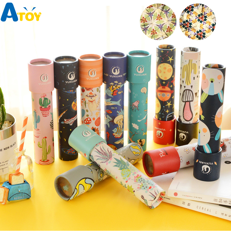 Cartoon 3D Kaleidoscope Imaginative Fancy Colorful World Magic Toddler Sensory Educational Toys For Children Birthday Gift Toy