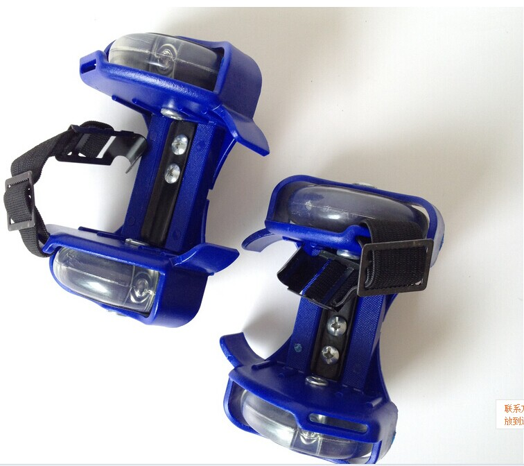 Pour adulte clignotant rouleau petit tourbillon poulie flash roue Skate chaussures clignotant rouleau chaussures - 5