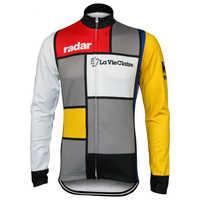 La vie claire maillot de cyclisme manches longues équipe vêtements de vélo vêtements de cyclisme hiver polaire et mince printemps automne vtt