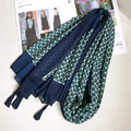 Floral Pashmina Women Scarf Blue Tassels Wraps Travelling Beach Light Foulard Shawl Brand New [0021]