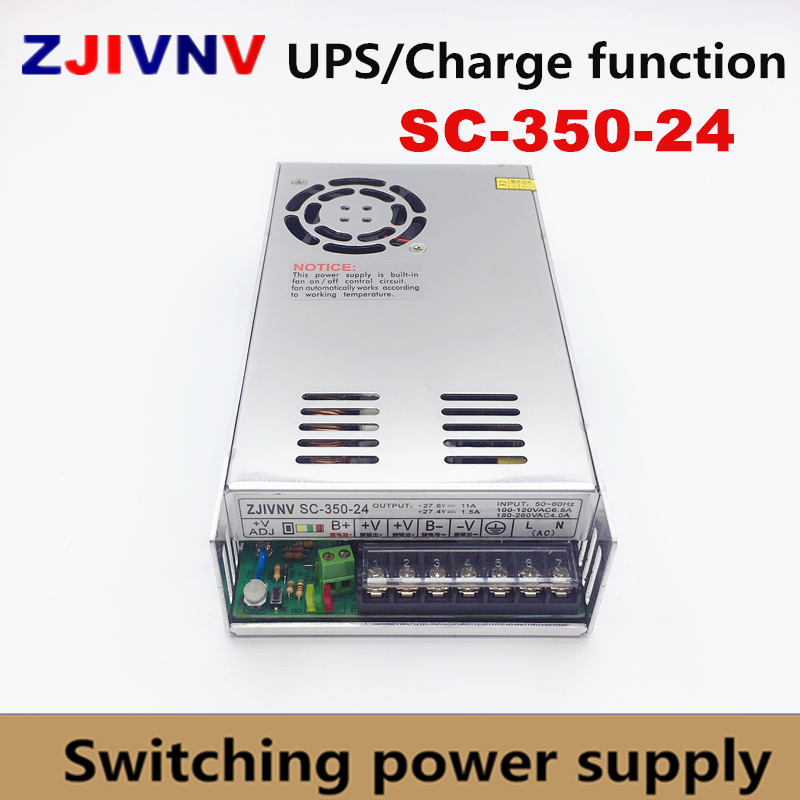 цена на 350W UPS charge function switching power supply 24v 11A 350W battery charger 27.4A SC-350-24
