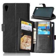 Роскошные 9 Слот для карты кожаный бумажник флип принципиально Телефон чехол для Sony Xperia Z3+ e6553/Z3 плюс двойной e6533/Sony Z4 задняя крышка Капа