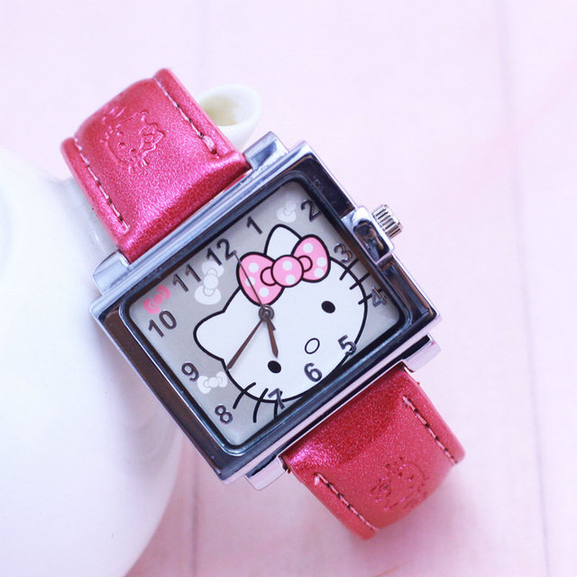 New Arrival Lovely children watches Hello Kitty Watch Gift Leather Strap Watch S