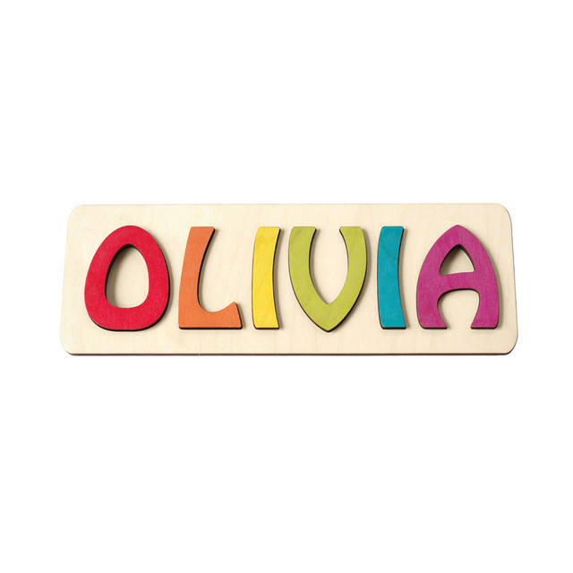 Personalized Custom Wood Wooden Name Sign Nursery Wall Art Baby Shower 1st Birthday Gift