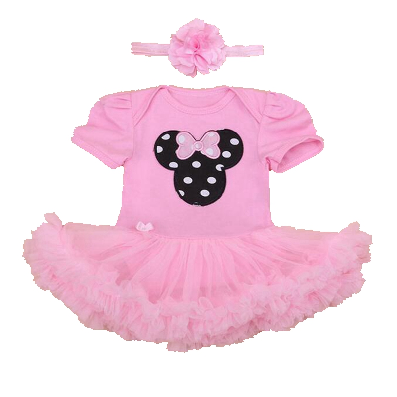 Cute Minni Set Tutu Newborn Lace Petti Romper Dress 2PCS Birthday Outfit Baby Girl Summer Clothes Infant Clothing Toddler Sets newborn infant baby girl clothes strap lace floral romper jumpsuit outfit summer cotton backless one pieces outfit baby onesie