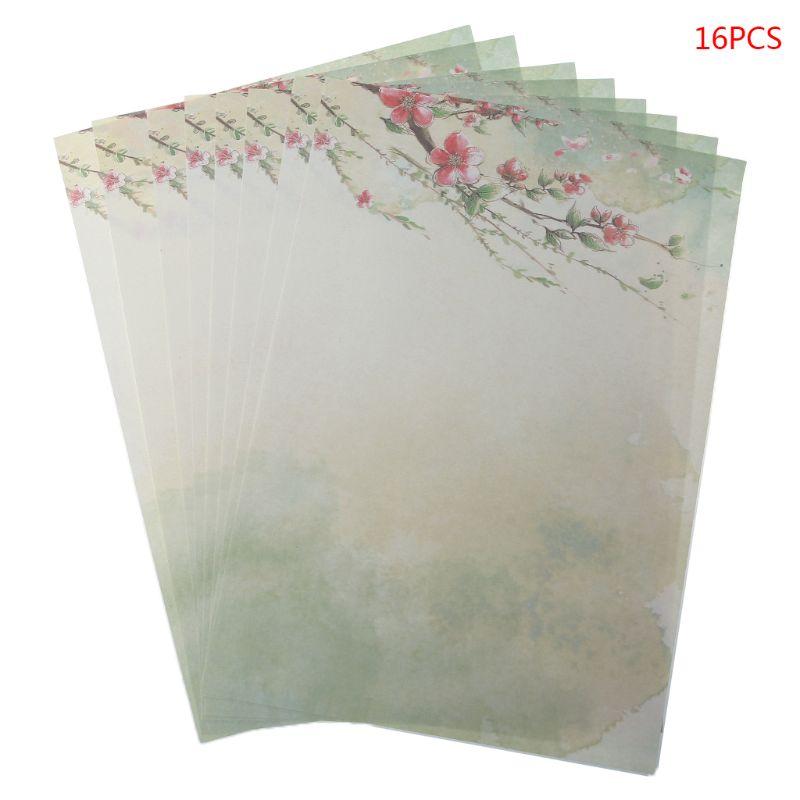 16 шт./упак. красивый китайский стиль Письмо бумага живописи тушью письма студентов канцелярские инструменты - Цвет: 12