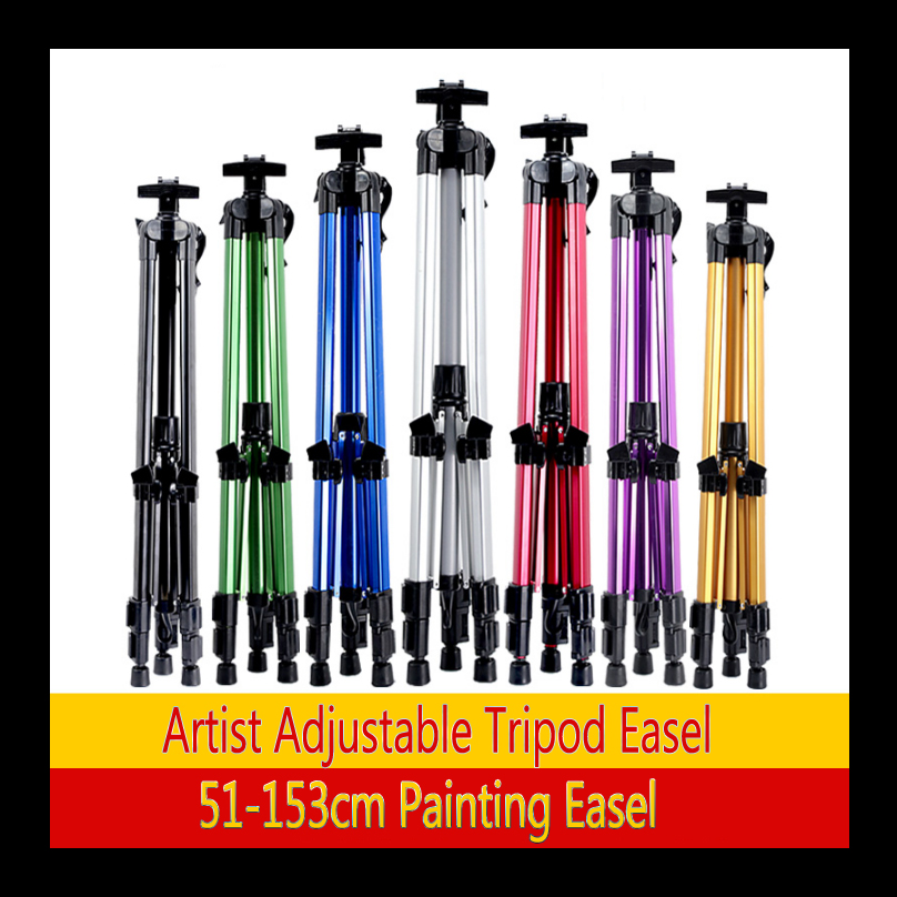 7 Colors Easel Aluminium Alloy Folding Painting Easel Sketch Easel Frame Artist Adjustable Tripod Display Shelf Outdoors Studio kitmmm559unv55400 value kit post it easel pads self stick easel pads mmm559 and universal economy woodcase pencil unv55400