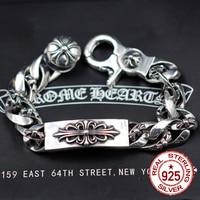 925 Sterling Silver Bracelet High End Vintage Crusader Chains The Punk Style Men And Women Tidal