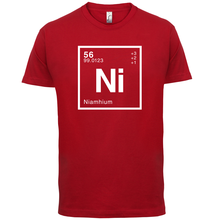 NIAMH Periodic Element - Mens T-Shirt Geeky / Chemistry 13 Colours Print T Shirt Short Sleeve Hot Tops Tshirt Homme
