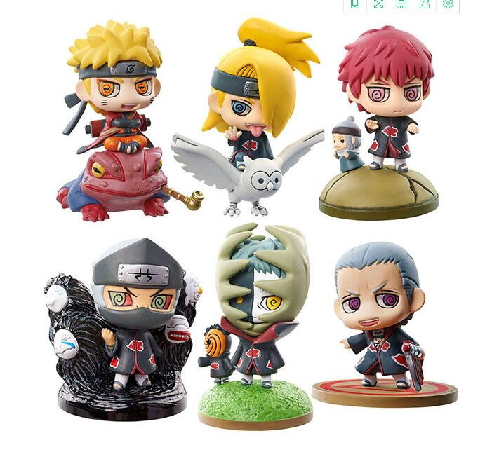 6pieces/set Naruto Uzumaki Naruto Zetsu Anime Action Figure PVC toys Collection figures for friends gifts