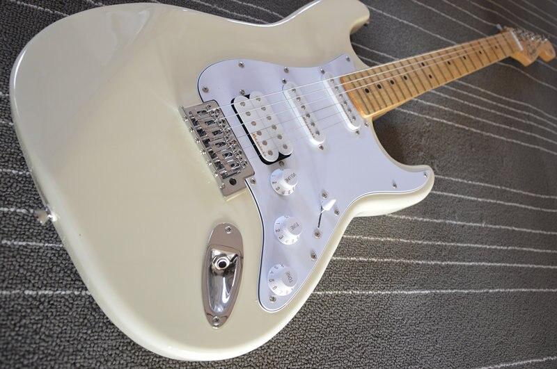 Factory store white maple HSS pickups fretboard 6 string Electric Guitar Guitarra guitarra eletrica stratocaster brazil stock
