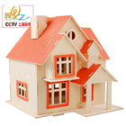 Free shipping Warm Home Garden Villa 3D Wooden puzzle wood house jigsaw puzzle toy children puzzle logico teaching AIDS Toy gift