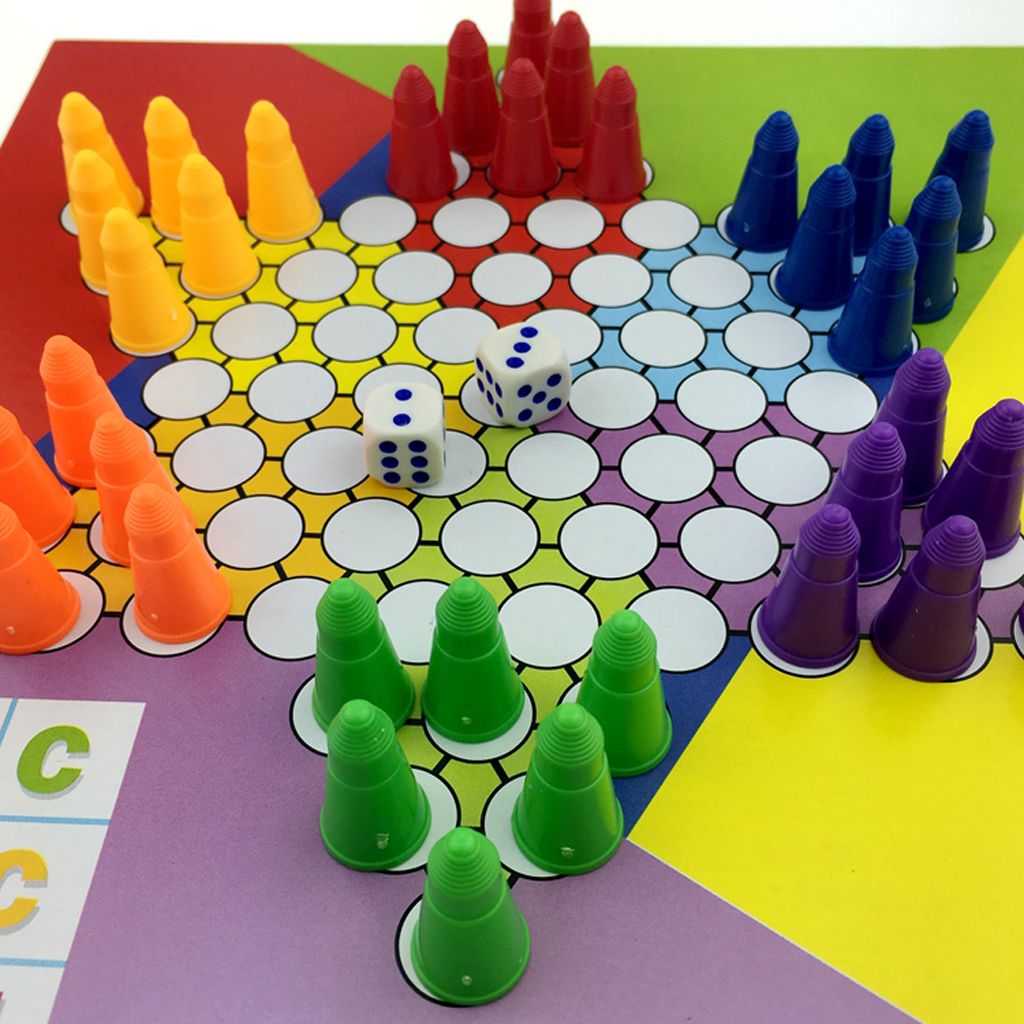2 in 1 Chess Set Chinese Checkers International Chess wi/ 200mm Chessboard Great Table Game for Kids Funny Family Party Game