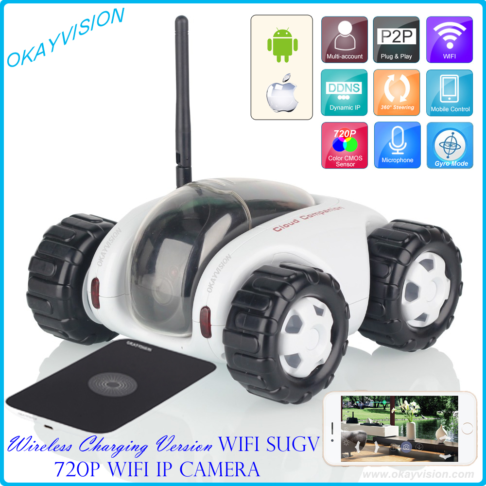 NEW wifi SUGV with 720P IP Camera, WIFI RC car, iPhone OS and Android night vision camera video toy car tanks CLOUD ROVER  wireless charger wifi remote control car with fpv camera infrared night vision camera video toy car tanks real time video call