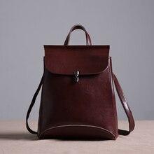 2017 Новый Роскошный Натуральная Кожа Женщины сумку Рюкзак Натуральной кожи сумка Студент Школы сумка рюкзак Бесплатная Доставка