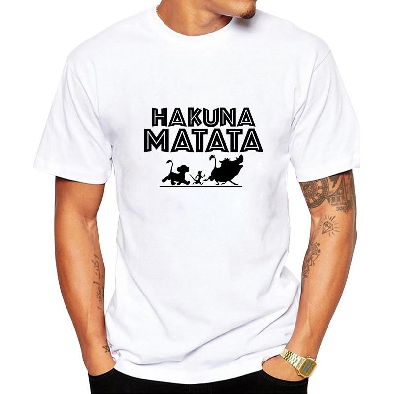 Showtly   HAKUNA MATATA Lion King Simba  Best Friend Timon And Pumbaa Billie Eilish Harajuku Gothic Hip Hop Men T Shirt