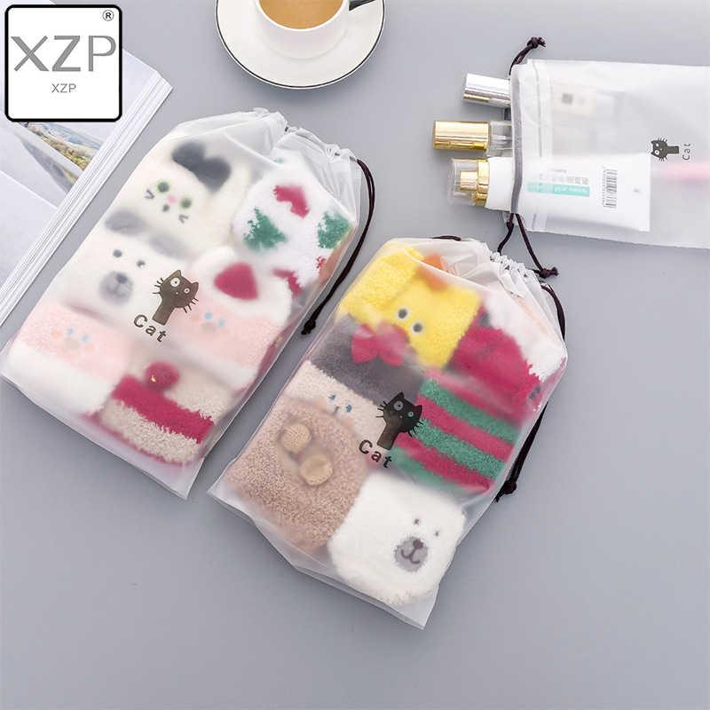 XZP kediler kozmetik çantası seyahat makyaj çantası kadın dize makyaj banyo organizatör çanta tuvalet yıkama güzellik kiti