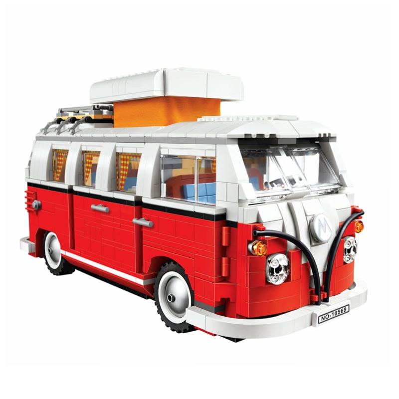 BELA City Technic Series T1 Camper Van Bus Building Blocks Sets Bricks Model Kids Toys Children Classic Compatible Legoings 449pcs bela 10295 laval s fire lion model diy building blocks for children sets classic bricks toys compatible with lego