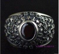 Восстановление древних способов 925 серебро тайского серебра мужское кольцо звезда кольцо