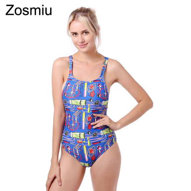 select for best clear and distinctive clear and distinctive US $20.67  Zosmiu Floral Printing One piece Swimsuit Women Adjustable Push  Up Strappy Monokini 2019 New Sexy Beach Bathing Suits Swimsuits-in Body ...