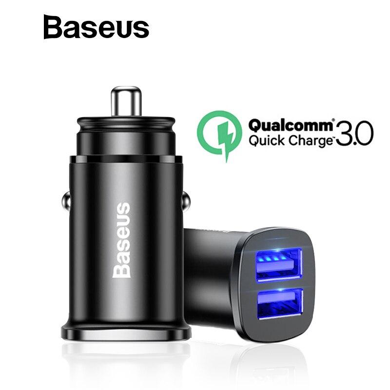 Baseus QC3.0 del cargador del coche del tipo-C PD3.0 + QC4.0 cargador de teléfono móvil en coche para iPhone X Xs X Max samsung Nota 9 Dual USB cargador de coche