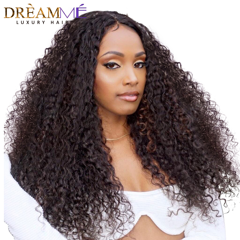 Brazilian Curly Wig 150 Density Glueless Lace Front Human Remy Hair Wigs For Women Pre Plucked