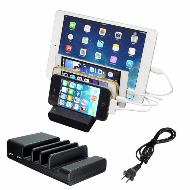 EE.UU. Plug 4 USB Multi-Puerto USB Estación de Carga de Viaje Cargador de Pared de Escritorio Estación de Carga Rápida LJJ01117