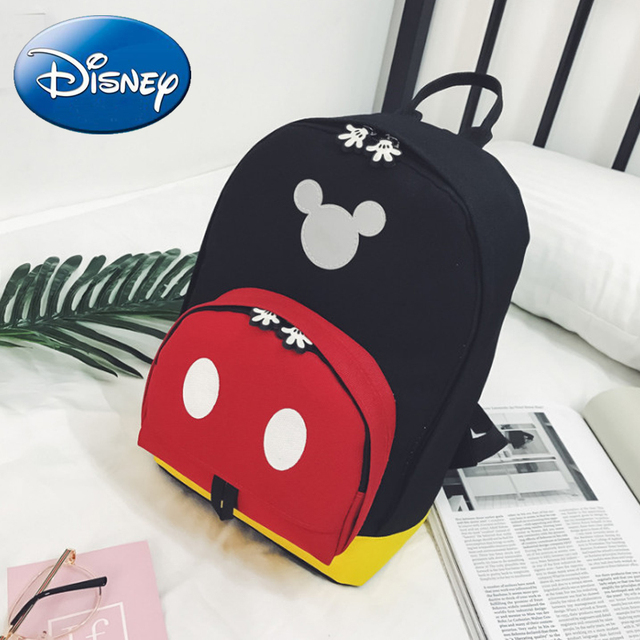 c96460ccb3 Disney 2018 New Kids Mickey Mouse Backpack Children Girls Boy Bag Cute  Backpacks Polyester Cartoon Kindergarten Bags