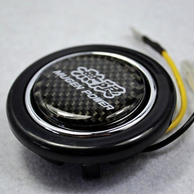 Carbon Fibre  Steering Wheel Horns Button For Honda  Accord CIVIC SI Element ACURA INTEGRA S2000 PRELUDE CRV