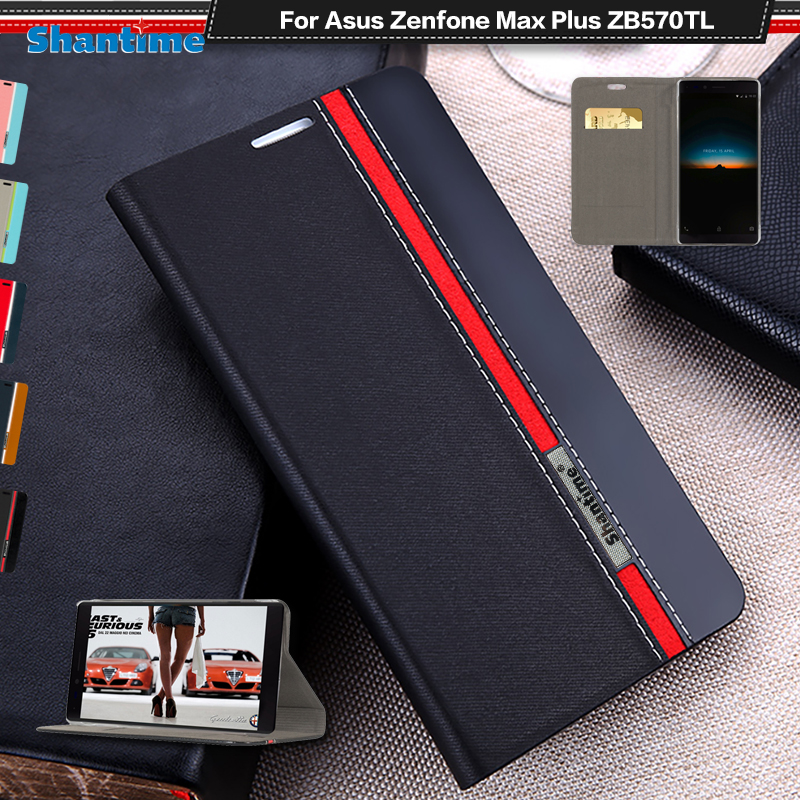 Wallet Bag Stand Card Slot Flip Phone Case For Asus ZenFone Max Plus M1 ZB570TL Leather Book Case Soft Silicone Back Cover