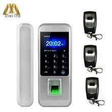 الذكية بدون مفتاح بصمة قفل الباب مع جهاز التحكم عن بعد للمنزل مكتب باب من الزجاج بدون إطار التحكم في الوصول XM 300