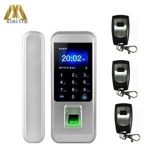 Image 1 - Smart Keyless Porta di Impronte Digitali Serratura Con Telecomando Per La Casa Ufficio Frameless Porta di Vetro di Controllo di Accesso XM 300