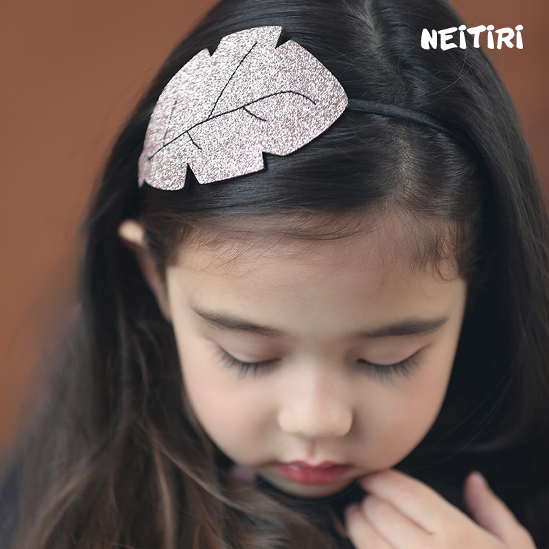 Korea High Quality Big Leaf Hair Accessories For Girls Handmade Hair Band Flower Crown Headband Hair Bow Princess