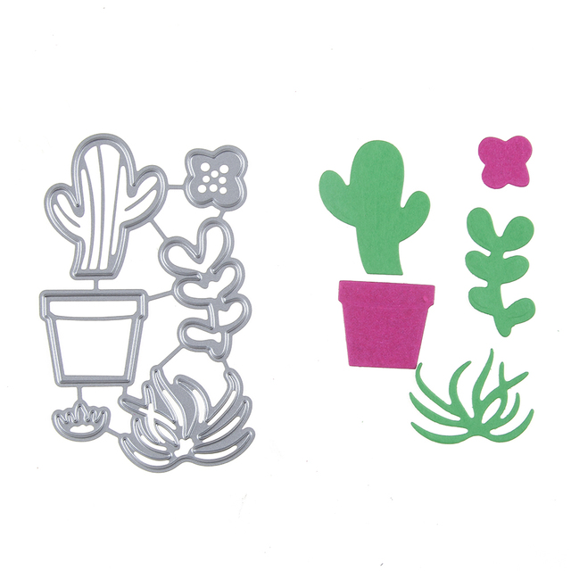 58*89mm Relieves de papel acero plantas cactus Recortes de papel ...