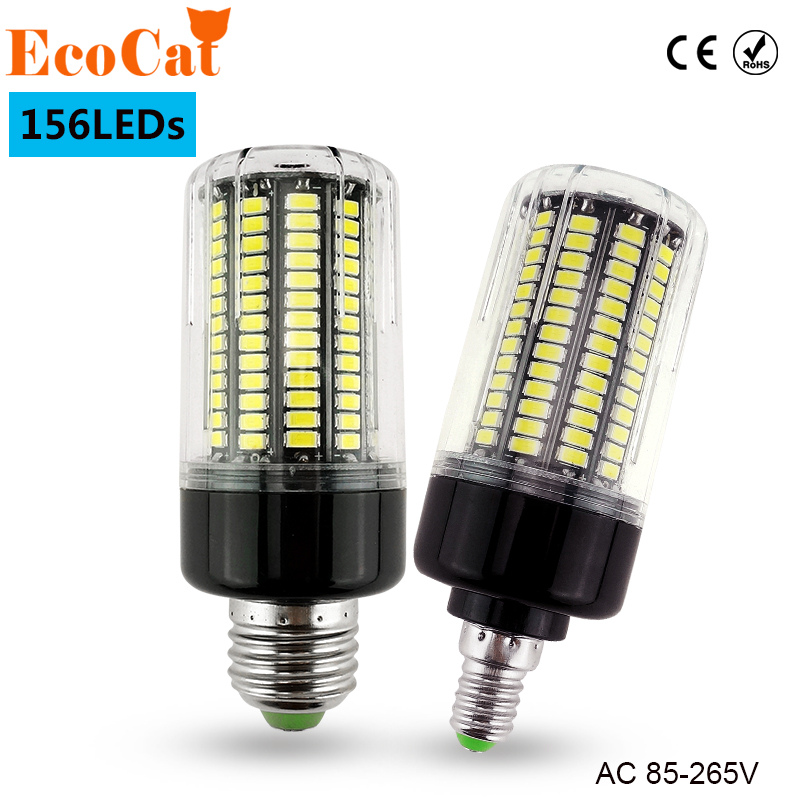 ECO Cat LED Bulb E27  220V 110v led corn lamp 15W  E14 156 LEDs 5736 SMD warm white cold white high power led spotlight new bright 30w 40w 50w 60w e27 ac85 265v cold white warm white smd5730 corn bulb led corn light led bulb spotlight lamps