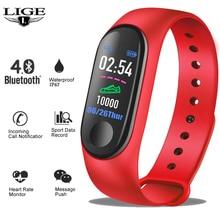 LIGE 2019 New Smart Watch Women Men Pedometer Fitness Tracker Bracelet Heart Rate Blood Pressure Monitor Sport Band