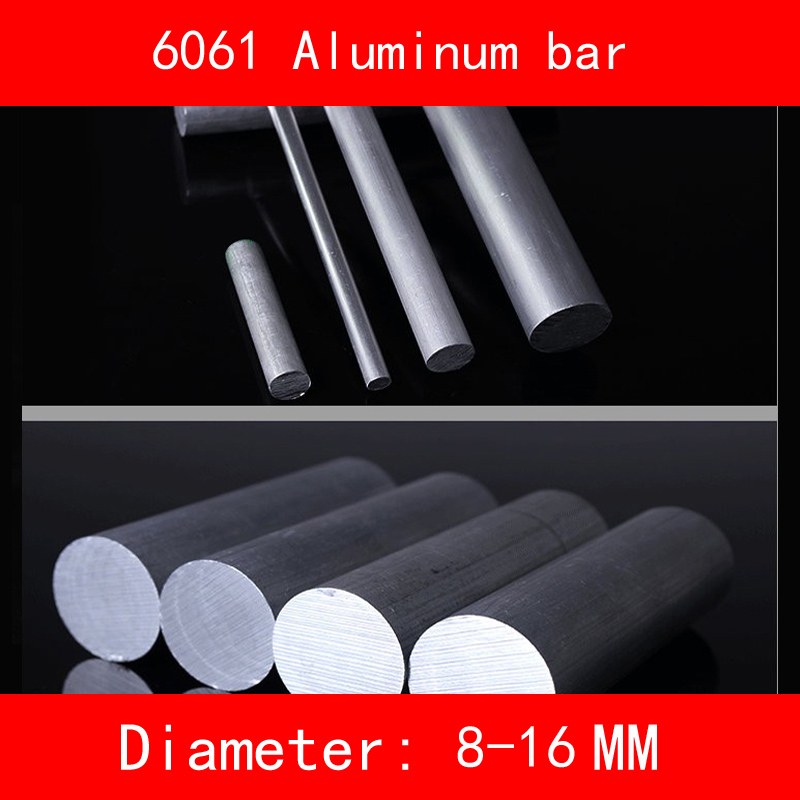 Diameter 10mm 14mm 18mm length 300mm Aluminum 6061 Round Bar Aluminium Strong Hardness Rod for Industry or DIY 5pcs 100mm length graphite rod 10mm diameter electrode cylinder rods bars black for industry tools
