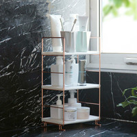 A1 Bathroom shelf copper plated floor wash rack Bathroom supplies toilet multi layer storage rack wx11171415
