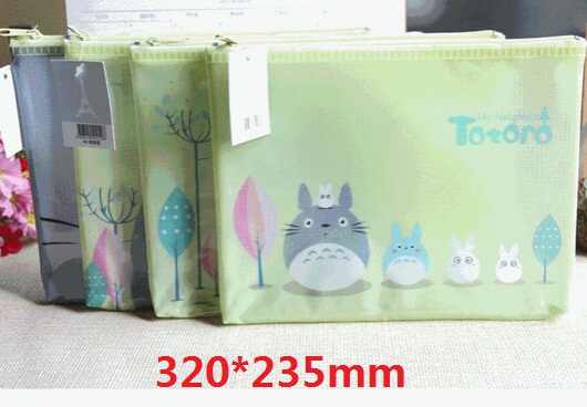 1PCS/Lot   New Japan animals cartoon cat family A4 documents File Bag  mesh bag stationery Filing Production 320*235mm