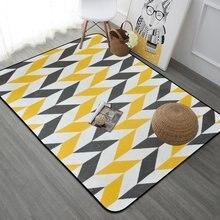 Скандинавские серые желтые искусственные коврики для гостиной