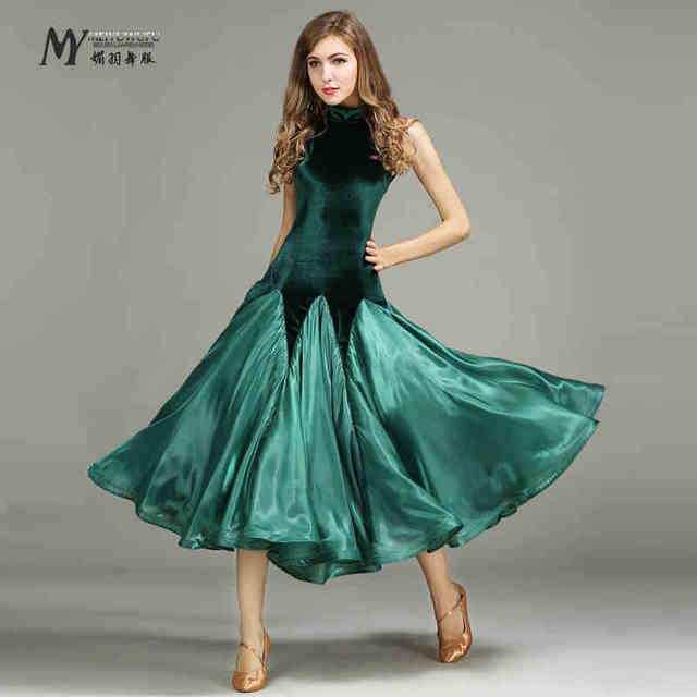 Green Standard ballroom dancing clothes ballroom dresses china waltz dress  tango foxtrot waltz dance dress standard dance dress a3fc6f6c3